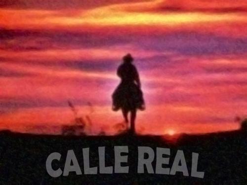 calle real cowboy sunset atardecer